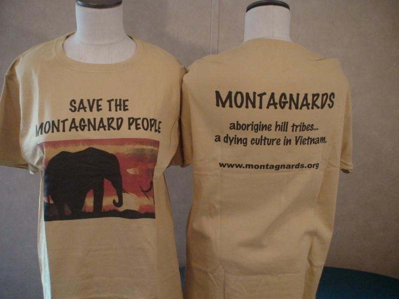 Montagnards T Shirt Yellow - Large
